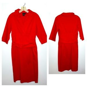 Teri Jon Red Sheath Dress. Size 10